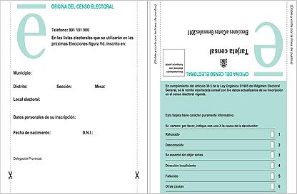 Utrera al dia for Oficina del censo electoral madrid