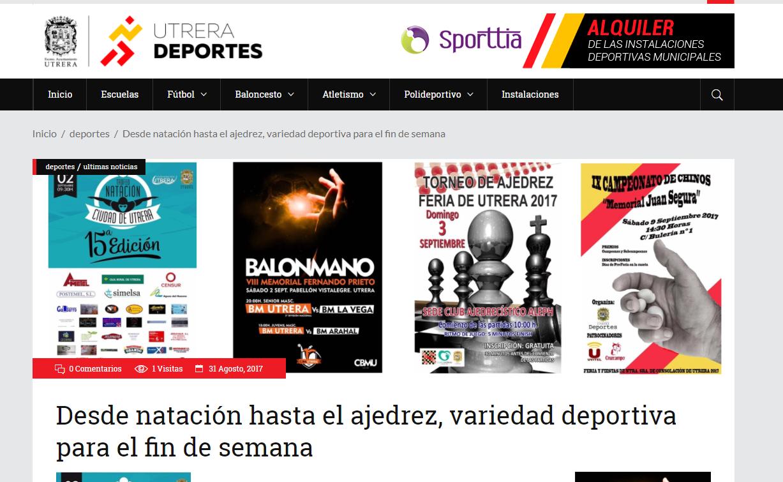 web de deportes