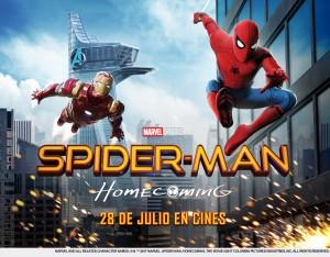 SpidermanHomecoming-cartel-horizontal cine de verano
